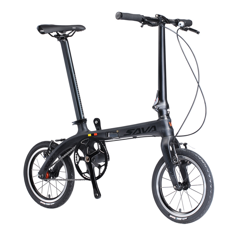 6.7kg city bike Adulti bicicletta pieghevole 14/16 pieghevole bici per Adulti in fibra di carbonio pieghevole luce della bici in carbonio del peso pieghevole bicicletta