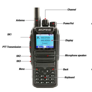 Image 2 - Baofeng DM 1701 Digital Analog Walkie Talkie Dual Band Dual Time Slot DMR Radio Station Two Way Radio Amateurs Transceiver 10 KM