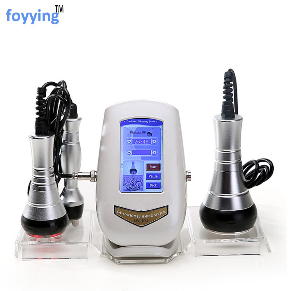 Foyying 40K Cavitation Ultrasonic Weight Loss Machine Multi-polar RF Radio Frequency Skin Lift Tighten Anti-wrinkle Rejuvenation