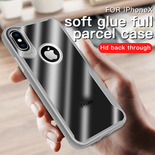 Transparent Soft TPU Phone Cases For iPhone XS MAX XR Clear Shockproof Cover Apple 7 8 Plus X 6 6S 5 5S SE Protection