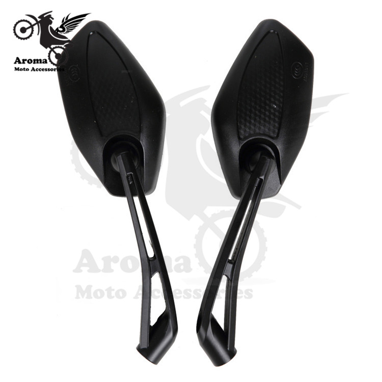 black ONE Pair Motorcycle Mirror Accessories Scooter Parts Motor Rearview Mirrors For Suzuki Kawasaki Honda Yamaha Motor partss