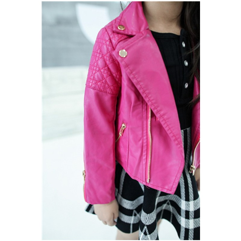 Kids Girl Leather Jacket