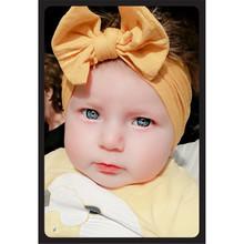 1Pc Śliczne Baby Toddler Bowwęzłem opaska na głowę Opaska do włosów nowy przyjazd Dropshipping tanie tanio Dziecko 6M 3T Headbands Baby Girls Mikrofibra W MUQGEW Hair Band Stałe