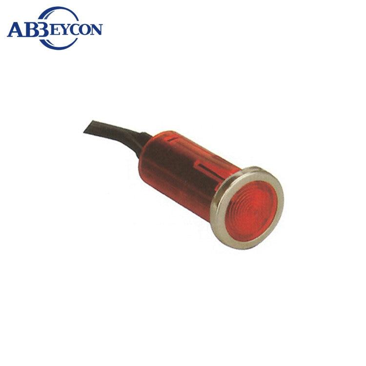 Cabeza plana 12mm luz indicadora del panel Led De Metal 12V