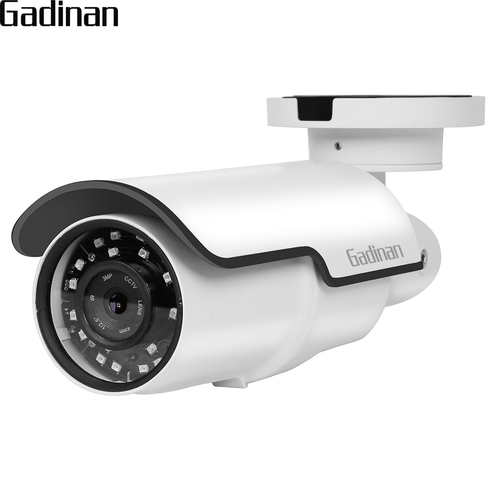 GADINAN H.264 2MP IMX322/4MP H.265 25FPS 4X Zoom Auto Focus Bullet IP Camera Motion Detection Email Alert ONVIF 48V POE Function