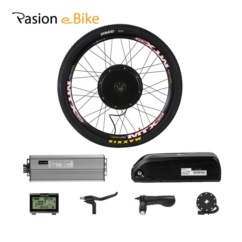 Electric Bike Motor Kit Price: PASION E BIKE Conversion Kits With Battery 48V 1500W Hub