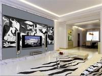 3d Wallpaper Custom Photo Mural Livingroom Picasso Famous Painting Renderings Sofa TV Background Non Woven Wallpaper