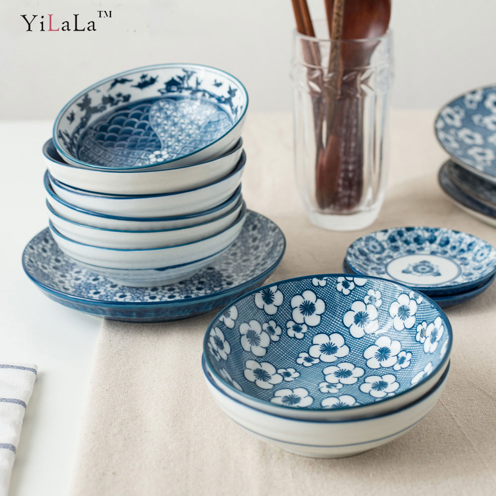 Yilala Small Bowl Ceramic Tableware Creative Handmade Porcelain Plant Pattern Bowls for Kids -in Bowls from Home \u0026 Garden on Aliexpress.com | Alibaba Group & Yilala Small Bowl Ceramic Tableware Creative Handmade Porcelain ...