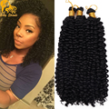 Water Wave Crochet Braids Curly Hair Freetress Crochet Curly Hair Synthetic Kinky Curly Crotchet Bulk Braiding Hair Extensions