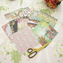 24 Sheets DIY 12 Style 15.2*15.2cm Luxury French Court Theme Craft Paper Scrapbooking Creative Gift Use