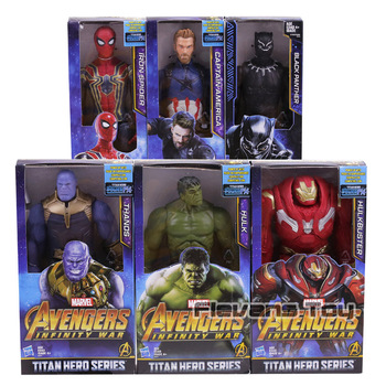 Figuras de acción de vengadores Infinity War, Thanos, Iron Spider, Capitán América, Pantera Negra, Hulk, Hulkbuster