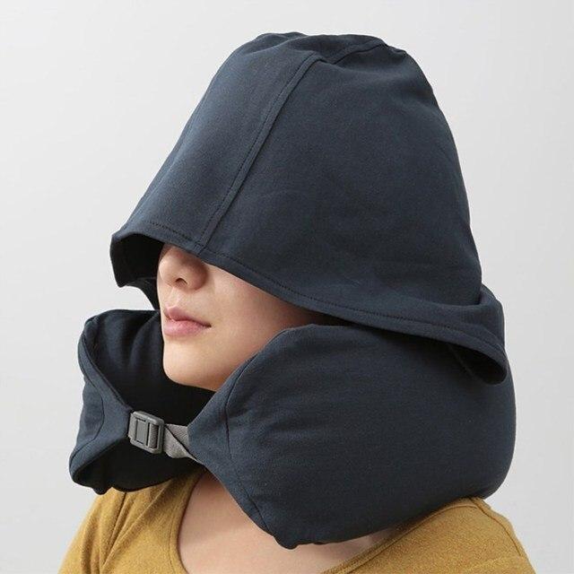 u oreiller voyage pour avion gonflable voyage accessoires confortable oreillers pour sleep home textile a capuche