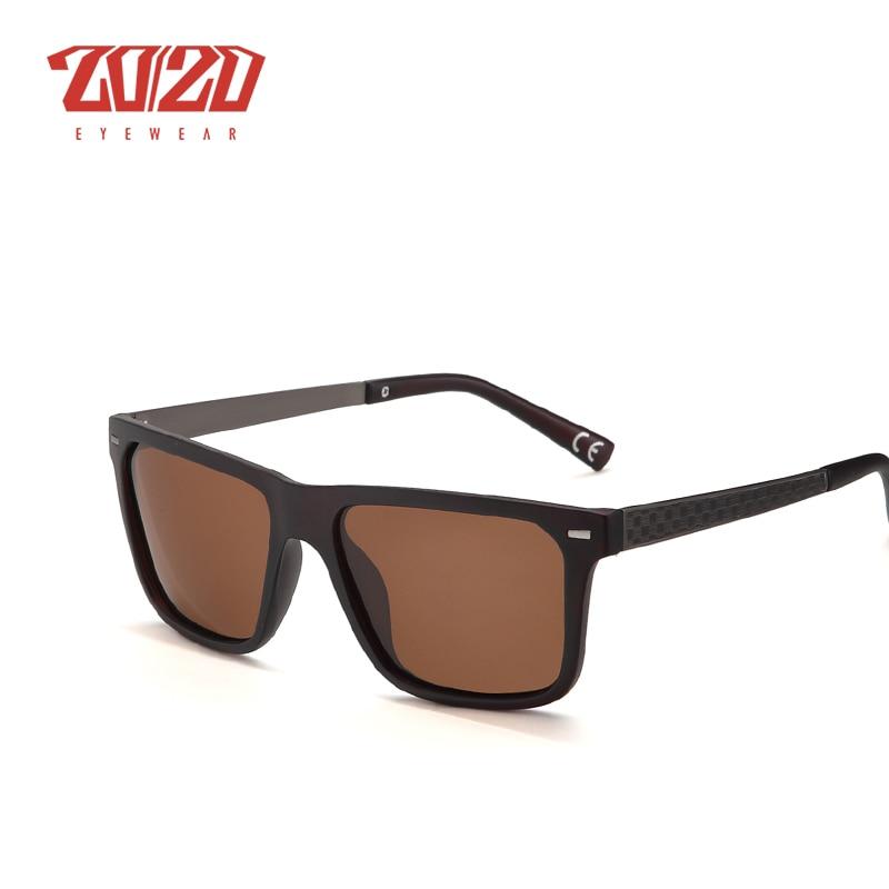 20/20 Marca Retro Hombres Gafas de sol Metal Lattice Frame Man - Accesorios para la ropa - foto 4