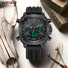 Best Price WEIDE Relogio Masculino Black Sports Mens Watch Top Brand Luxury Army Military Quartz Wrist Clock  Reloj Hombre