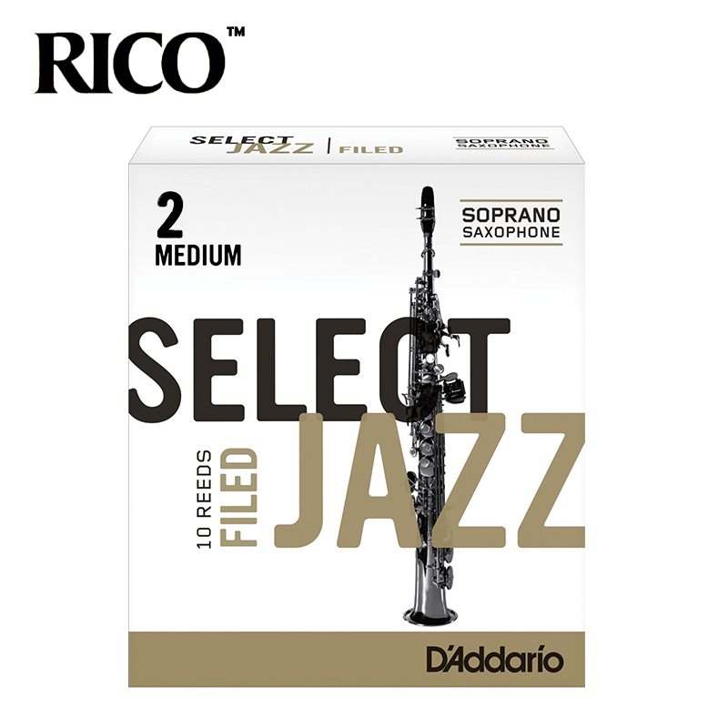 RICO Select Jazz Soprano Sax Reeds / Saxophone Soprano Reeds, Filed, Strength 2M/2H/3S/3M/3H, 10-pack [Free shipping] new soprano saxophone b flat playing professionally yss 475 soprano musical instruments soprano sax professional free shipping