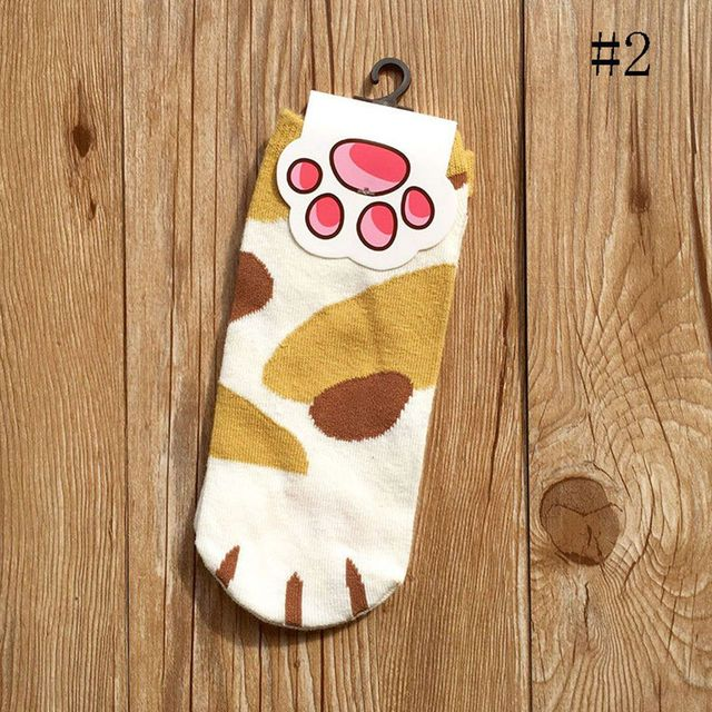 Kawaii Paw Patterned Socks