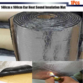 140 cm x 100 cm Del Coche Del Carro SUV Cubierta de Calor Estera De Aislamiento Acústico Control Deadener Ruido Estera De Papel De Aluminio 1 Unids