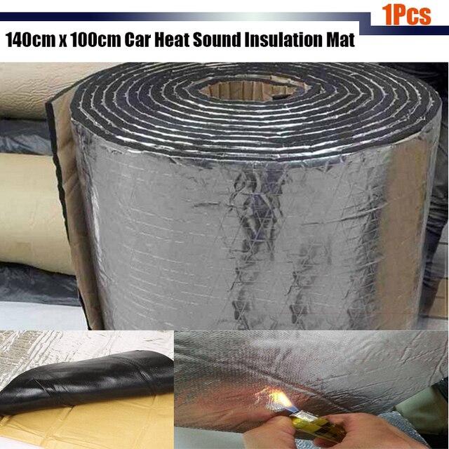 140cm x100cm Car Truck SUV Cover Heat Sound Insulation Mat Deadener Deadening Noise Control Aluminum Foil Mat 1Pcs