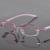 Liga de metal De Diamante Óculos Sem Aro Mulheres Óculos de Miopia óculos de Leitura Prescrição Progressiva Espetáculo com lentes Cor 258029