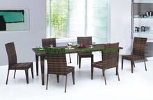 Indoor rattan dining table and chairs,dining furniture set