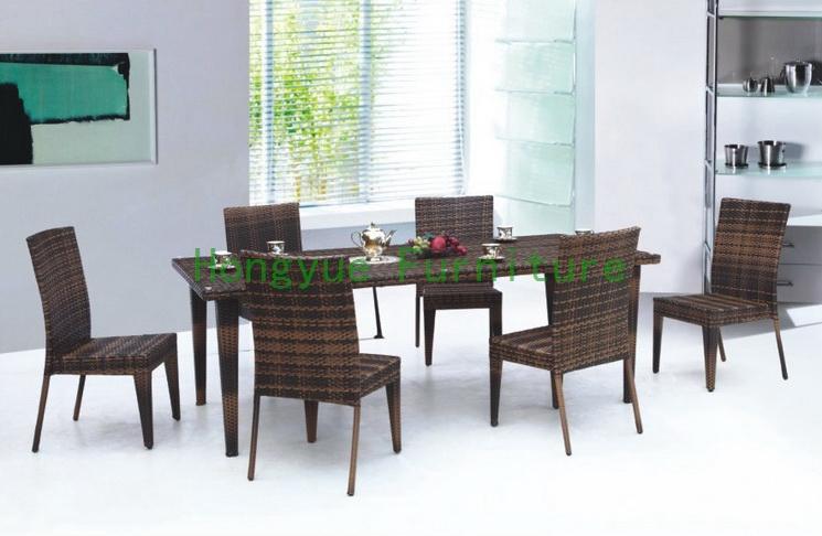 ratn cubierta mesa de comedor y sillas juego de muebles de comedor