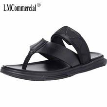 British retro all-match cowhide flip-flops men summer sandals Genuine Leather summer Sneakers Men Slippers casual Shoes beach все цены