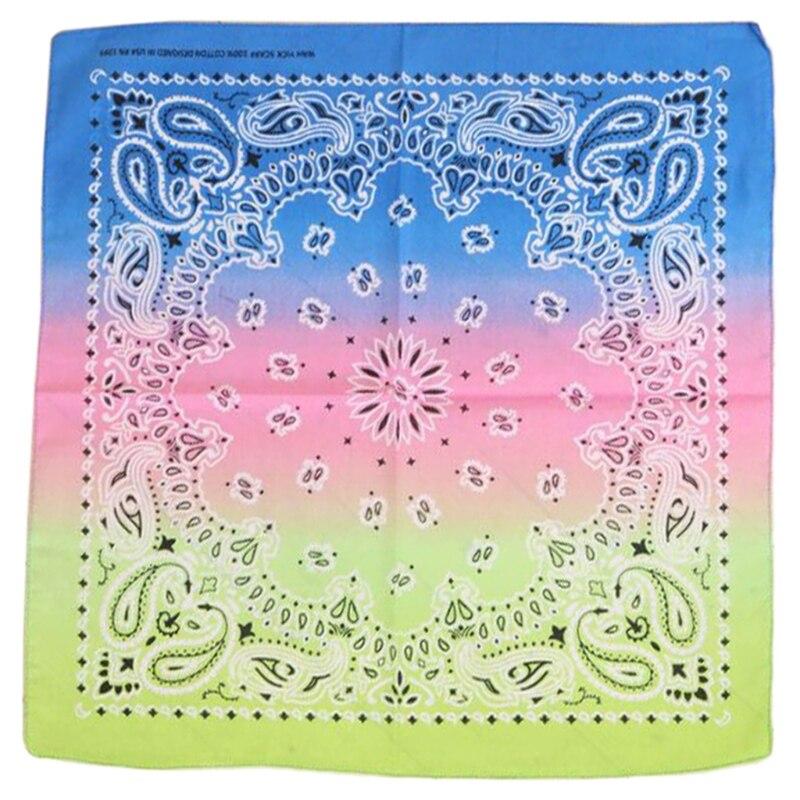 Womens Square Ribbon Shawl Gradient Color Headscarf Printed Neckerchief Headdress   Scarf   Head   Wrap
