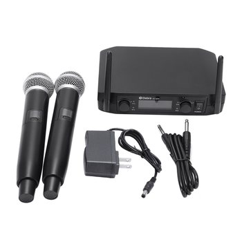 Top Deals Smart Fm Vhf Wireless Microphone 2 Cordless Handheld Mic Free Frequency For Meeting Pc Speaker Amplifier
