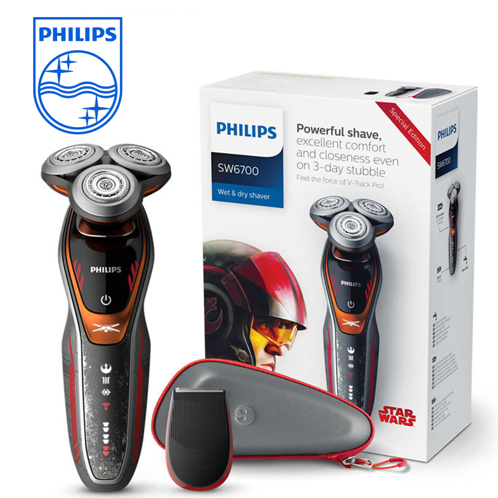 цена на Philips SW6700/14 Star Wars Special Edition Wet and Dry Electric Shaver for Men 1 Hour Fast Charge Washable Universal Voltage
