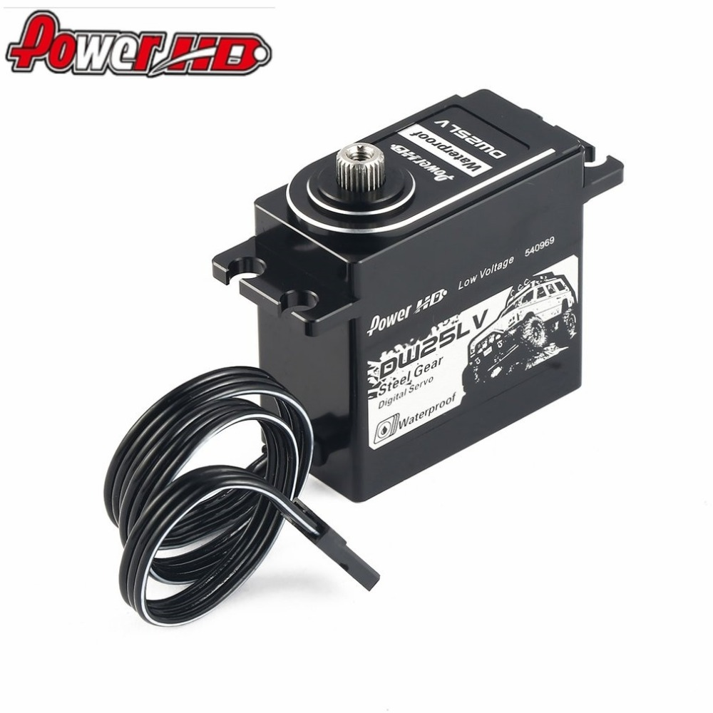 POWER HD DW-25LV Waterproof Metal Gear Digital Coreless Servo with 25kg High Torque for 1/10 RC Remote Control Car Boat hz new spring rc sm s4315m all metal gear 15kg servo for rc car boat robot high torque dual ball bearing 15kg rc parts 1 jt fci