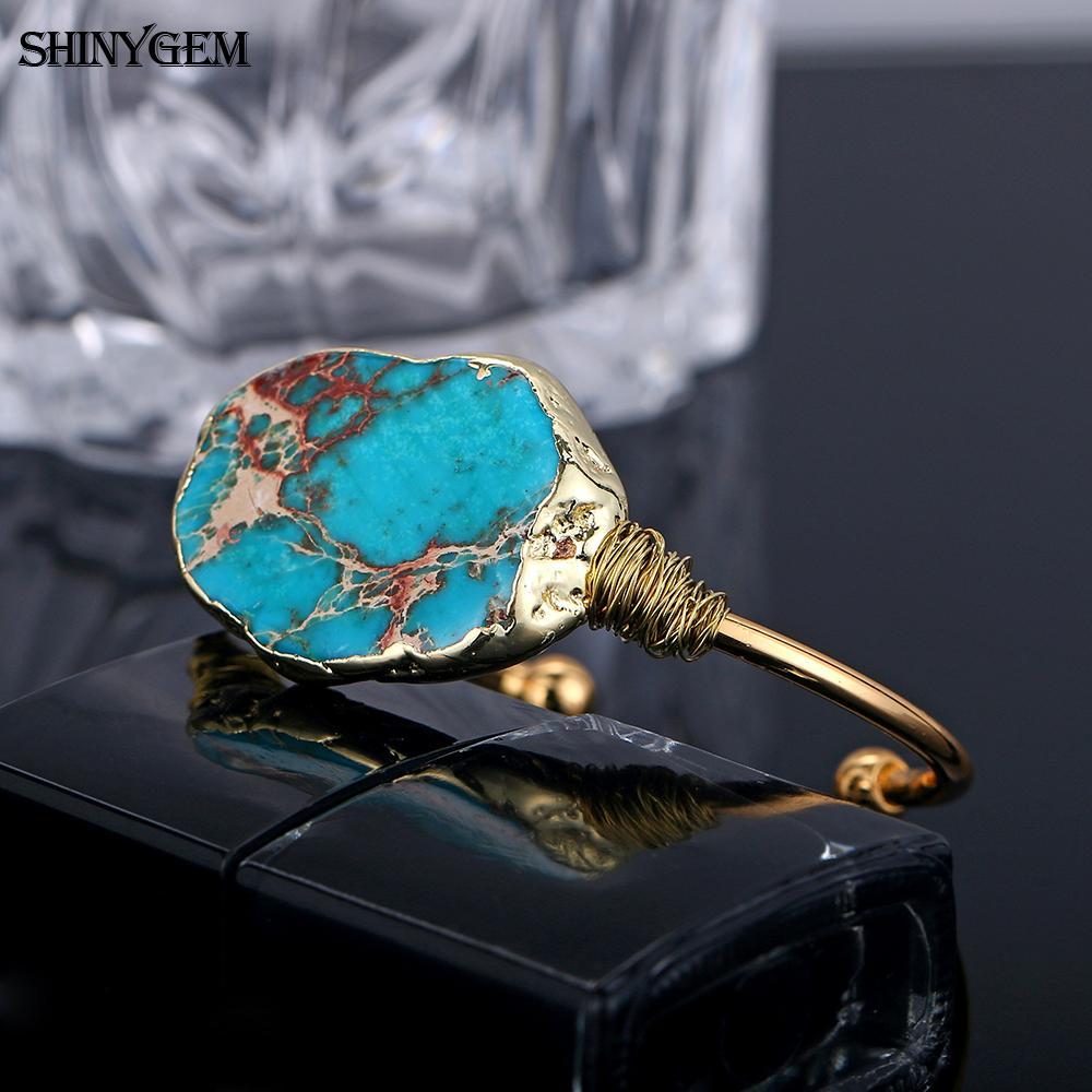 ShinyGem Natural Stone Bangle  2