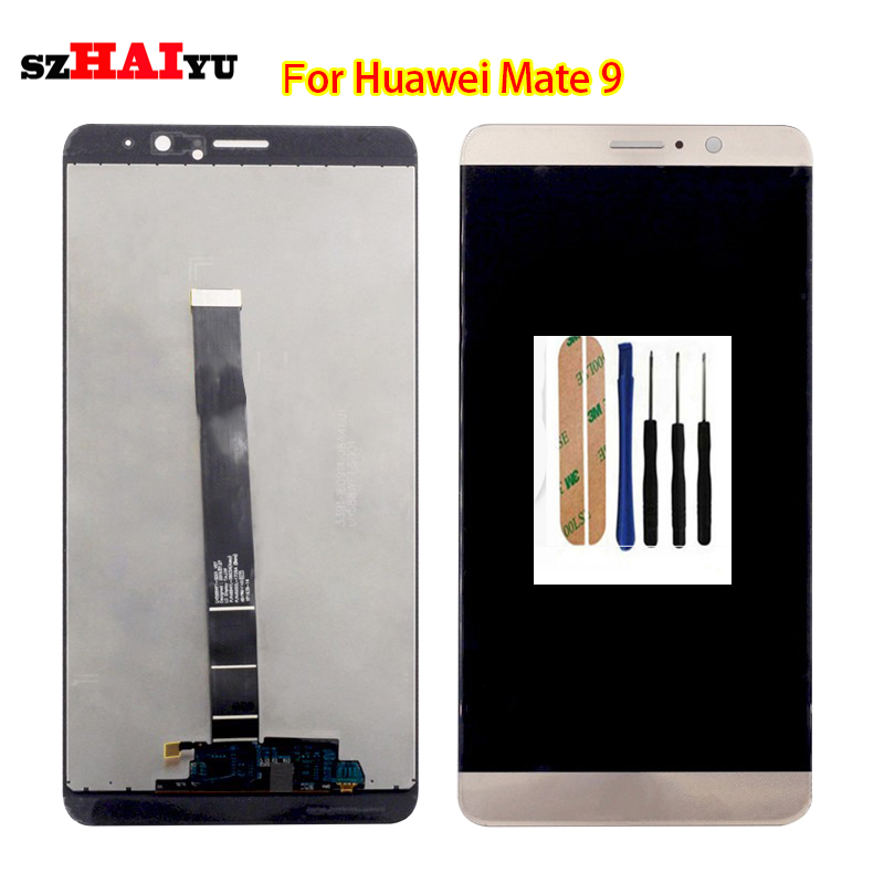 ФОТО Free Shipping high Quality Good LCD for Huawei Ascend Mate 9 LCD Display+Touch Screen Digitizer Assembly +Tools