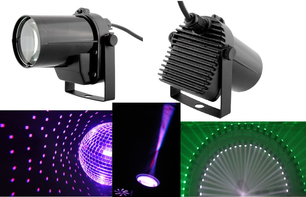 2015 Cheaper DJ LIGHTING 5W CREE LED Pinspot DJ Spot Beam Laser Projector Light Stage Party Bar Effect for Disco Free Shipping rg mini 3 lens 24 patterns led laser projector stage lighting effect 3w blue for dj disco party club laser