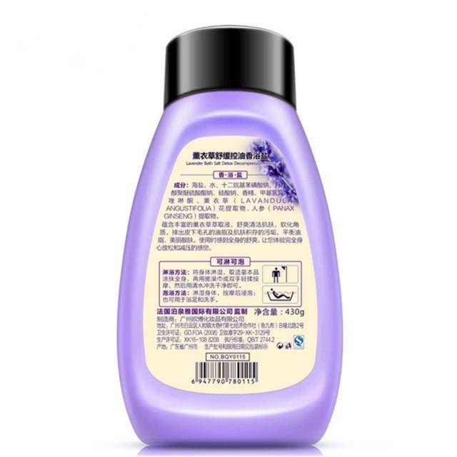 Plant Extracts Lavender Bath Sea Salts Mud Body Rub Replenishment Moisturizing Wash Care Exfoliating,Gentle Cleanses Skin Dirt. 1