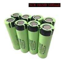 100% New Original NCR18650B 3.7v 3400 mah 18650 Lithium Rechargeable Battery For Panasonic Flashlight batteries