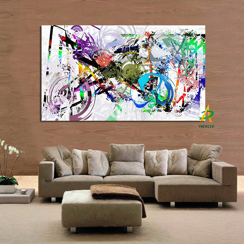 Graffiti street wall pop art creative bicycle canvas for Creative painting on canvas