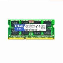 Reboto DDR3 1GB 2GB/4GB/8GB 2RX8/1Rx8 PC3L-12800s PC3-8500 DDR3 1600MHz 1333mhz 1066mhz Laptop Memory RAM stock