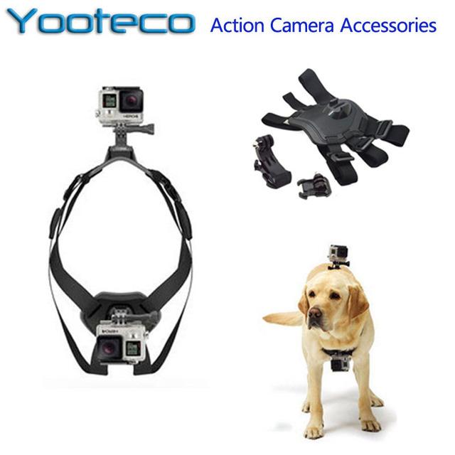 Acessórios GoPro Fetch Dog Pet Harness Chest Strap Mount Belt Para ir pro 5 sj4000 sjcam sj5000 xiaomi yi eken h9 ação câmera