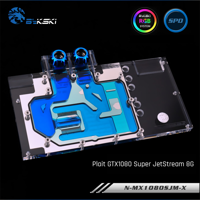 Bykski N-MX1080SJM-X Full Cover Graphics Card Water Cooling Block for Palit GTX1080 Super JetStream MAXSUN GTX1070TI JetStream 8 bykski full coverage gpu water block for maxsun gtx1080 super jetstream graphics card n mx1080sjm x