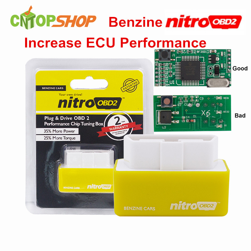 A petrol nitro obd2 chip tuning box for benzine cars for 2 1 2 box auto