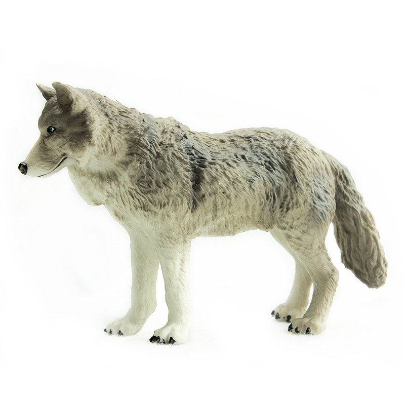 Toy Zoo Wolf Wild Animal Garnett Children Simulation-Model for Gift World-Prairie Large