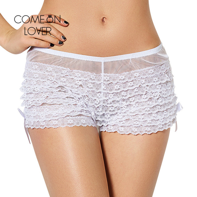 PI5077 Comeonlover Sexy Lace Boyshort Panties Transparent 3 Color Sexy Woman Underwea Panties Plus Size Panties Sexy Boxer Femme 4