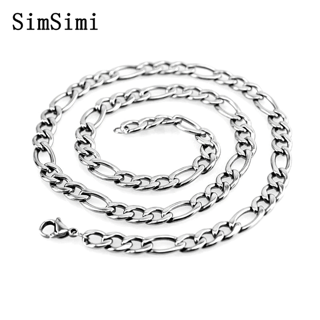 Wholesale Price 10pcs Figaro Chain Necklace Stainless Steel Necklaces Fashion Trendy Jewelry for Women High Quality
