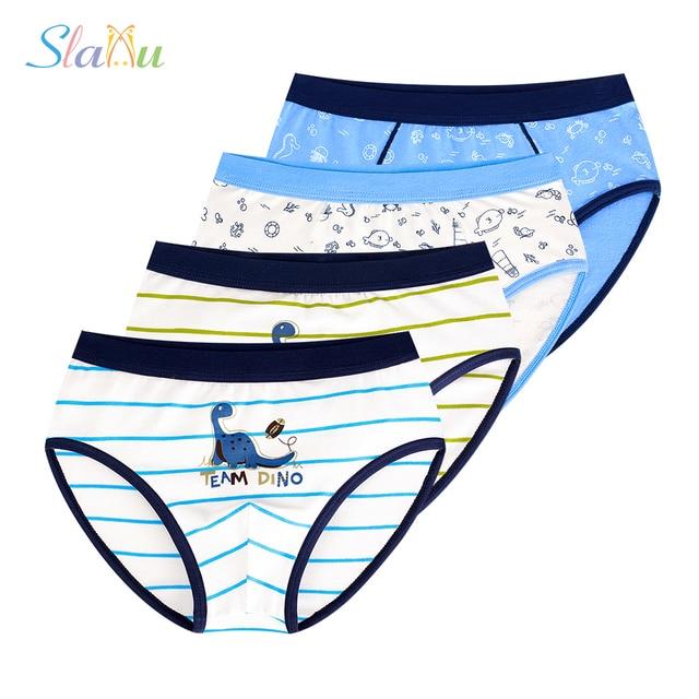 984f091f605d Cotton Children panty 4 Pcs/lot Kids Underwear Teenager Boxer Baby Briefs  Cartoon Striped Shorts Panties Boys Underpants 4-14y