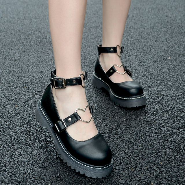 Sapatos Dedo Do Pé redondo Doce Adorável Lolita Adorável Boneca das Mulheres