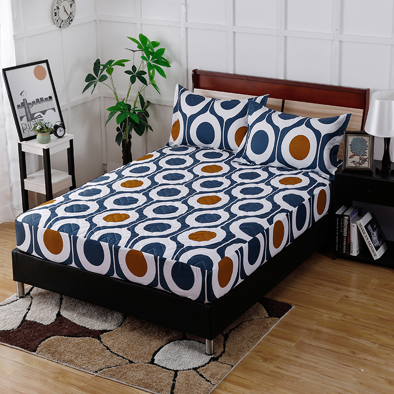 2017 Best-Selling Fashion Home Life Cotton Circle Printing Pattern Fitted Sheet Super Comfortable Soft And Breathable Bedding