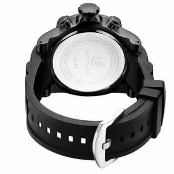 2019 Men's Skull Quartz Watch Men Skeleton Creative Watches Rubber Male Clock Water Resistant Wristwatches Relogio Masculino 1
