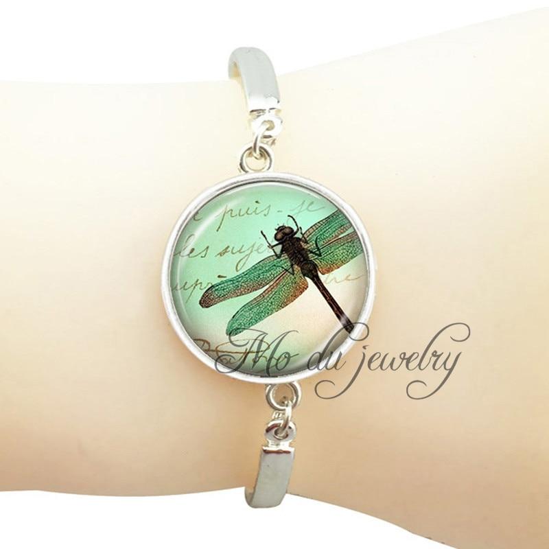 Fashion jewelry dragonfly art bangle plated silver bangles bracelets ...