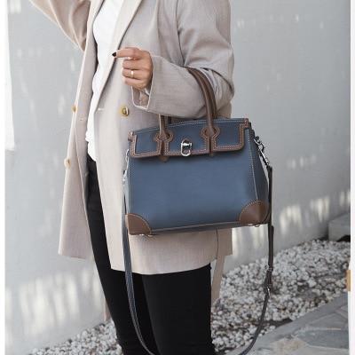 Genuine leather women s shoulder bags fashion cow leather lady handbags 2018 luxury handbags women bags