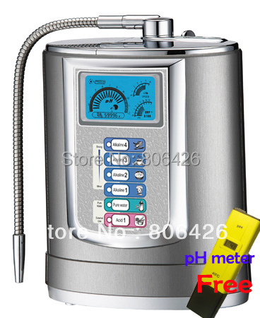 Free-shipping alkaline ionizer(Japan Tech,Taiwan manufacturer) SMPS system with built-in NSF filter+pH meter gifted yf 172 tenmars made in taiwan digital light meter with free shipping